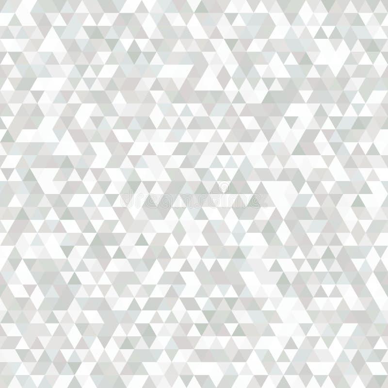 Delikata grå färger och vit sömlös modell av symmetriska trianglar royaltyfri illustrationer