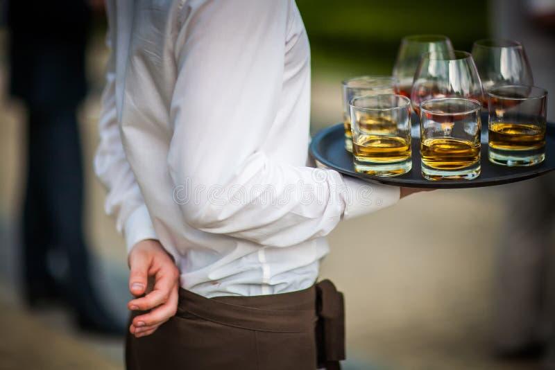 Delikatessen-und Getränk-Versorgen (Kognak und Whisky) lizenzfreies stockfoto