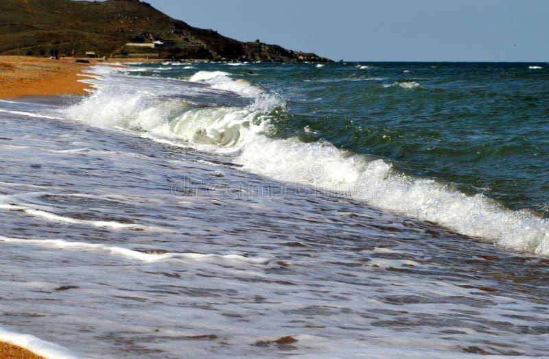 Delikatne fala morze Azov fotografia stock