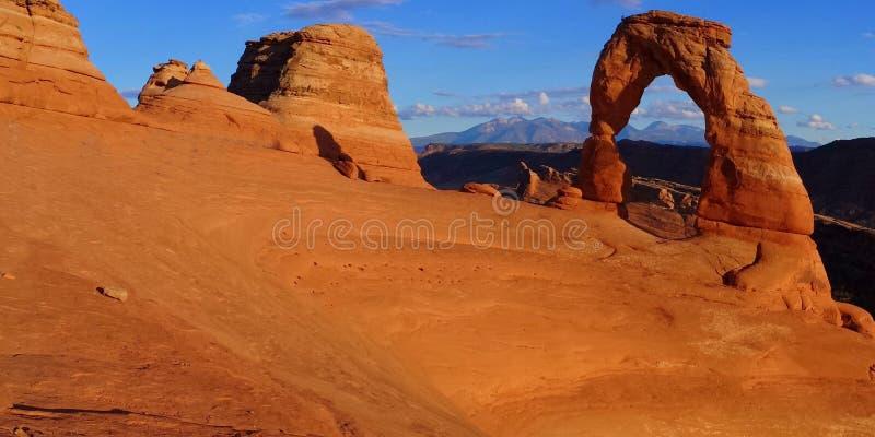 Delikatny ??kowaty Panoramiczny, ?uki parki narodowi, Moab, Utah zdjęcia stock