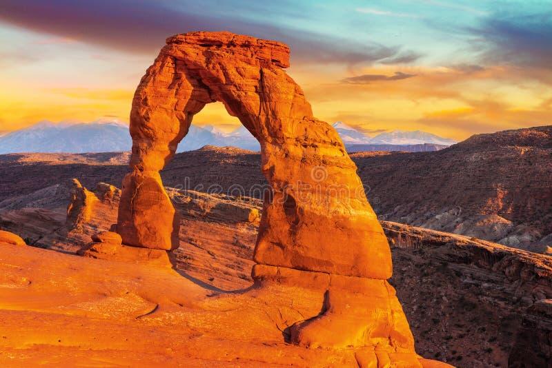 Delikatny łuk, łuki parki narodowi, Utah obraz stock