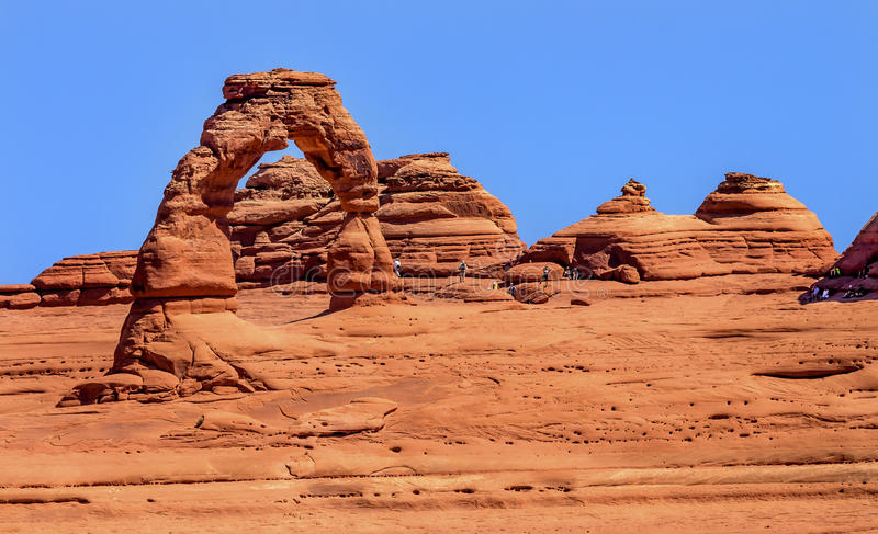Delikatny łuk skały jar Wysklepia parka narodowego Moab Utah zdjęcia stock