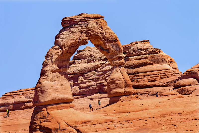 Delikatny łuk skały jar Wysklepia parka narodowego Moab Utah zdjęcie royalty free