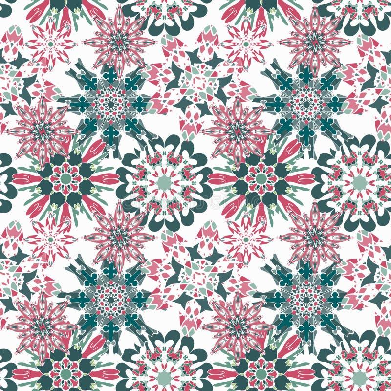 Delikatny bezszwowy wzór na lekkiego tło rocznika ornamentu wektoru etnicznej ilustraci royalty ilustracja