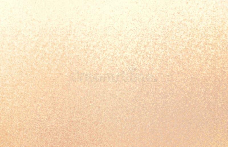 Delikatny brzoskwinia kolor sanded teksturę Różowy pastelowy shimmer tło ilustracji