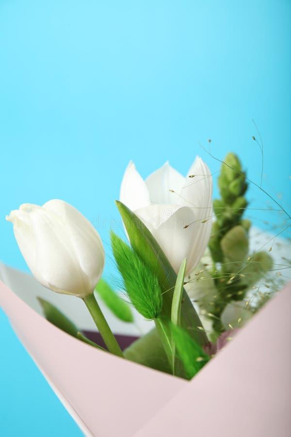 Delikatny bukiet, świezi piękni kwiaty Odbitkowa przestrze? dla teksta obraz royalty free