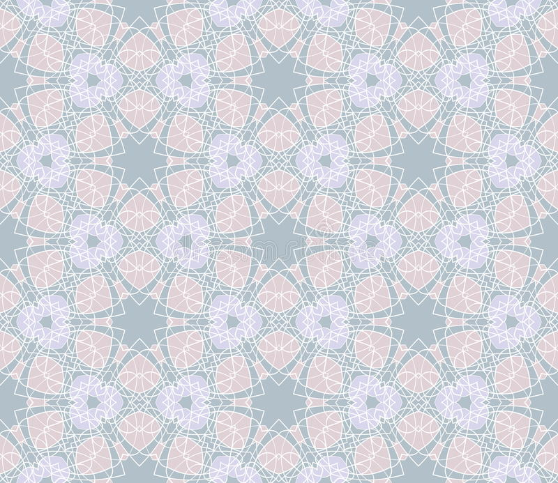 Delikatny geometryczny bezszwowy wzór Wektorowy tło royalty ilustracja