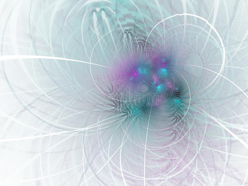 Delikatny i miękki abstrakcjonistyczny komputer wytwarzający fractal wizerunek dla logo, projektów pojęcia, sieć, druki, plakaty  ilustracji