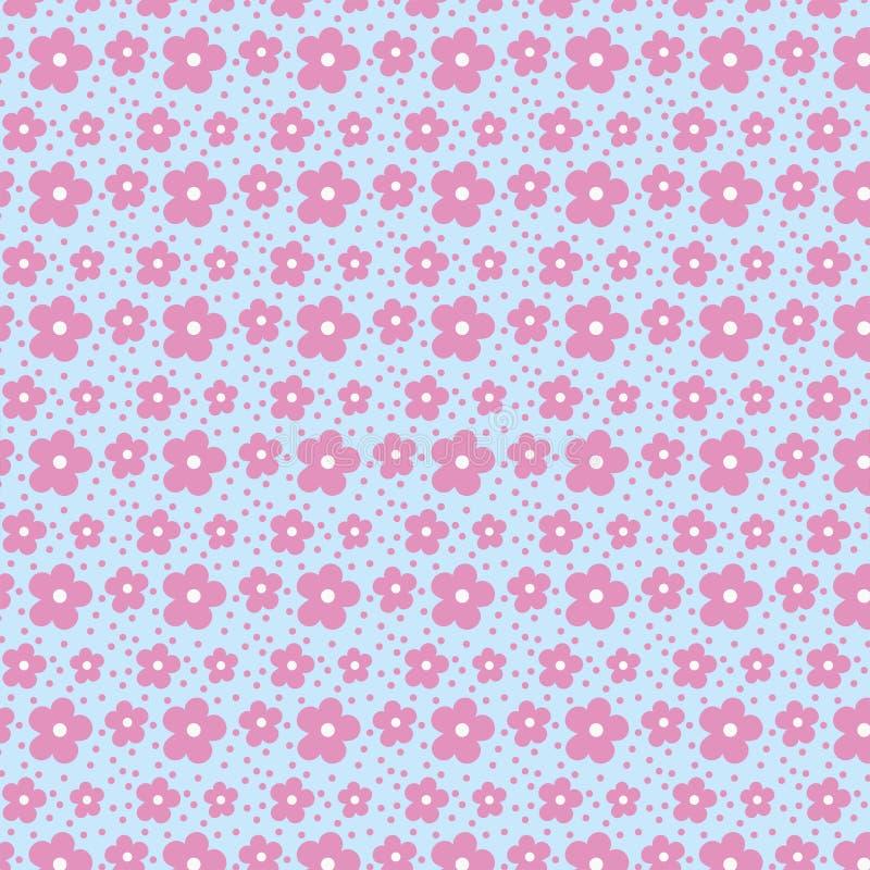 delikatny kwiecisty deseniowy bezszwowy Mali kwiaty obrazy stock