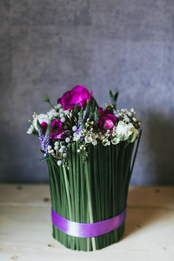 Delikatny pi?kny bukiet kwiaty zamkni?ci w g?r? fotografia royalty free