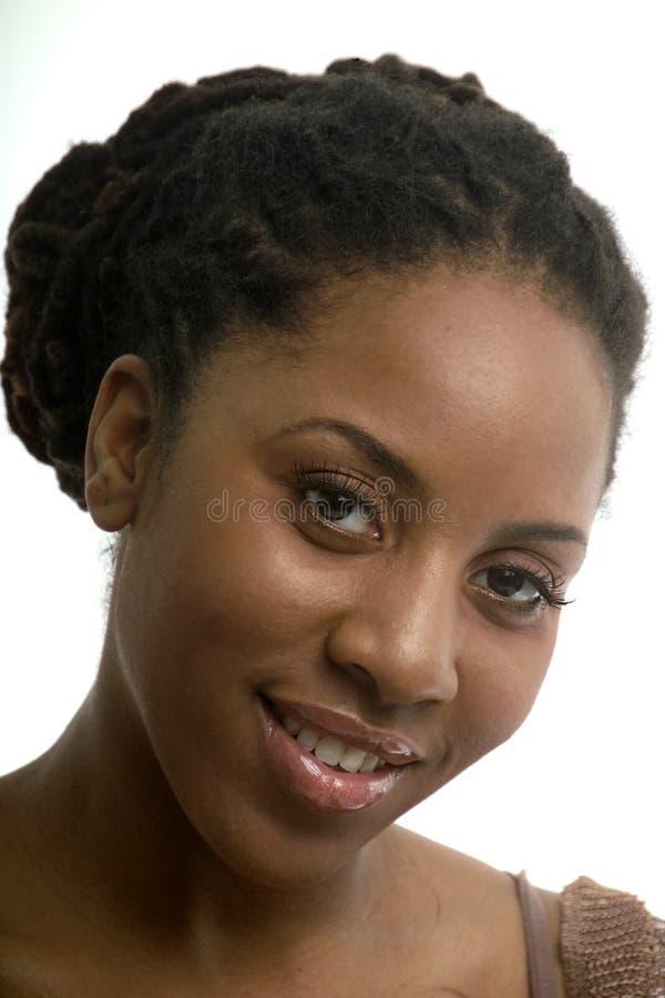 Download Delikatny uśmiech obraz stock. Obraz złożonej z afrykanin - 369351