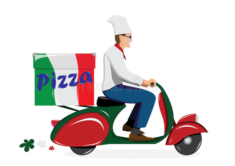 Deliver pizza stock photo