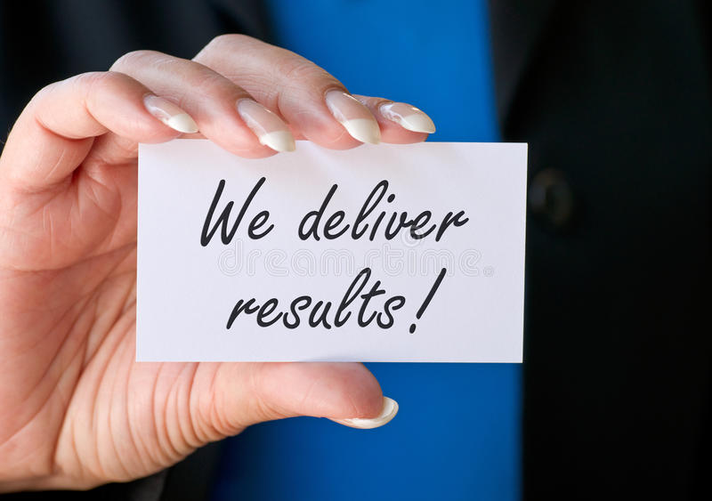 We deliver results stock photos
