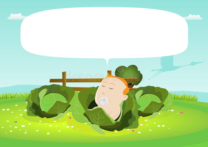 Download Delivering Baby In Cabbage Sign Stock Photos - Image: 20052743