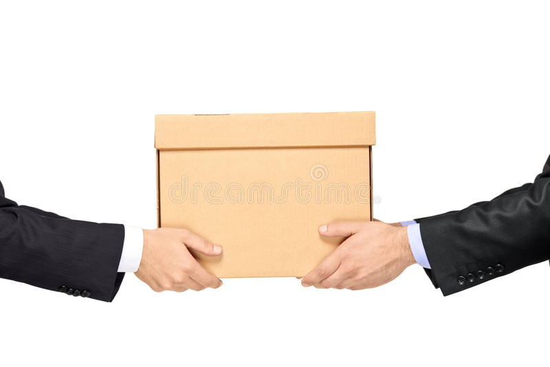 Delivering package stock photos