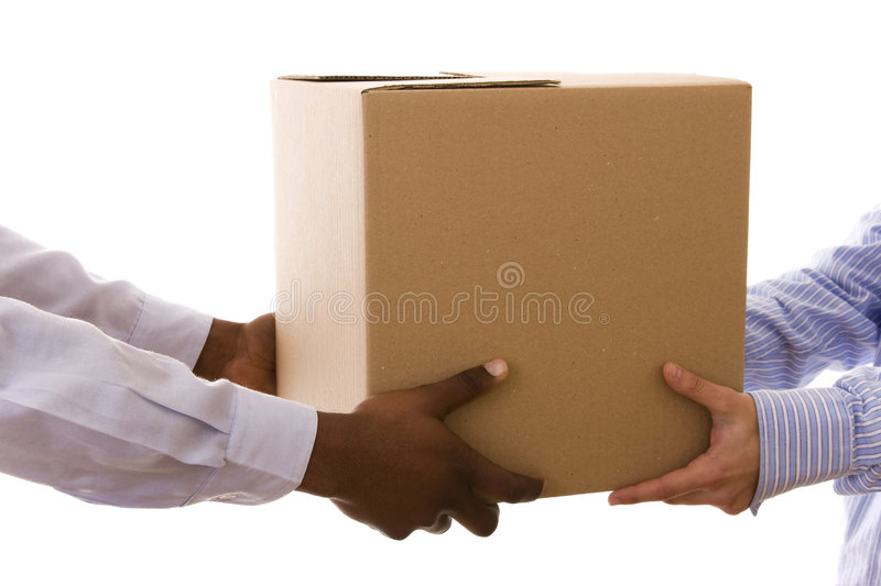 Delivering a package royalty free stock photo