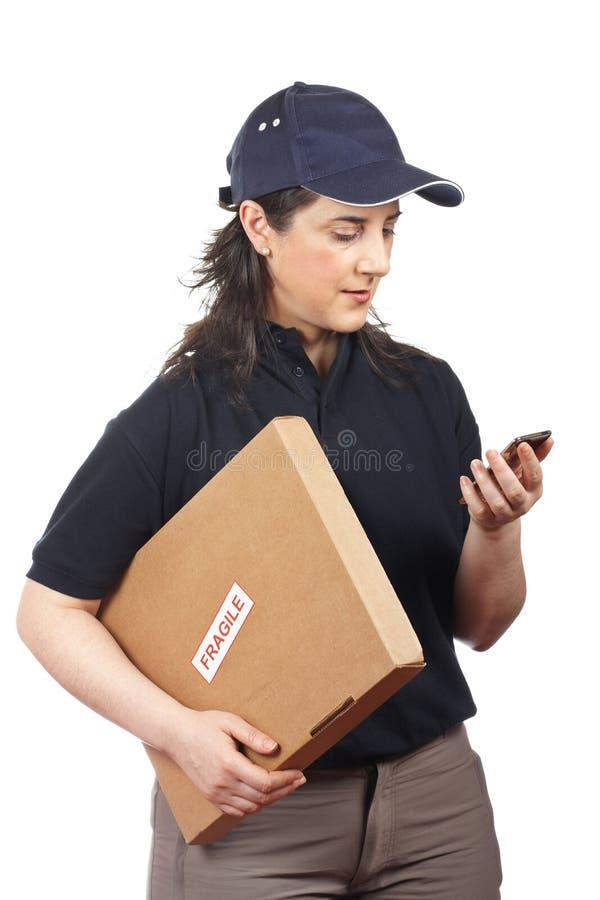 Download Delivering A Package Fragile Stock Image - Image: 12561805