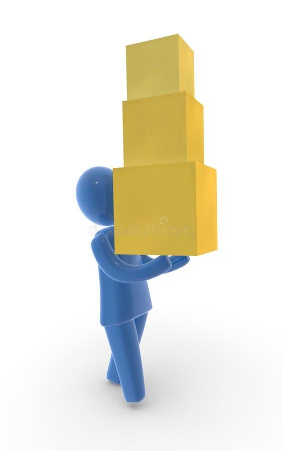 Download Delivery stock illustration. Illustration of fedex, blue - 7036680
