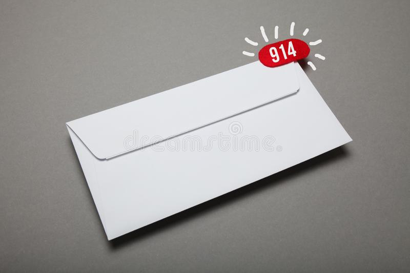 Delivery address blank envelope, confidential attachment stock photos