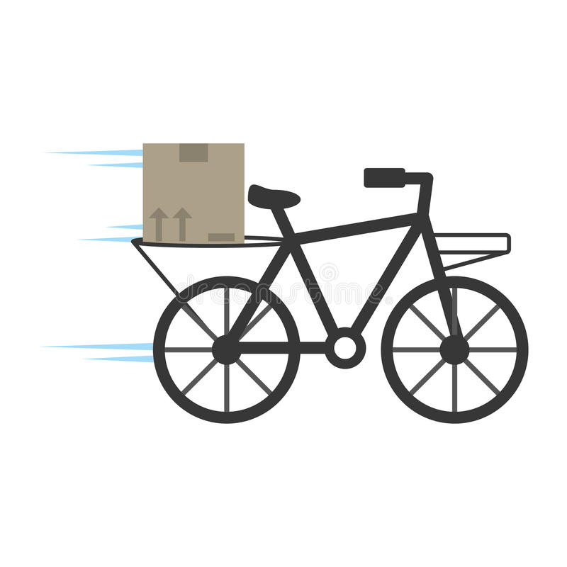delivery bicycle box service stock illustration