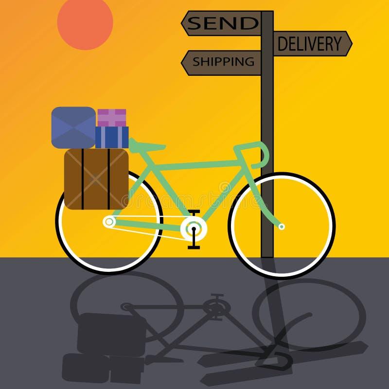 Delivery bike stock illustration