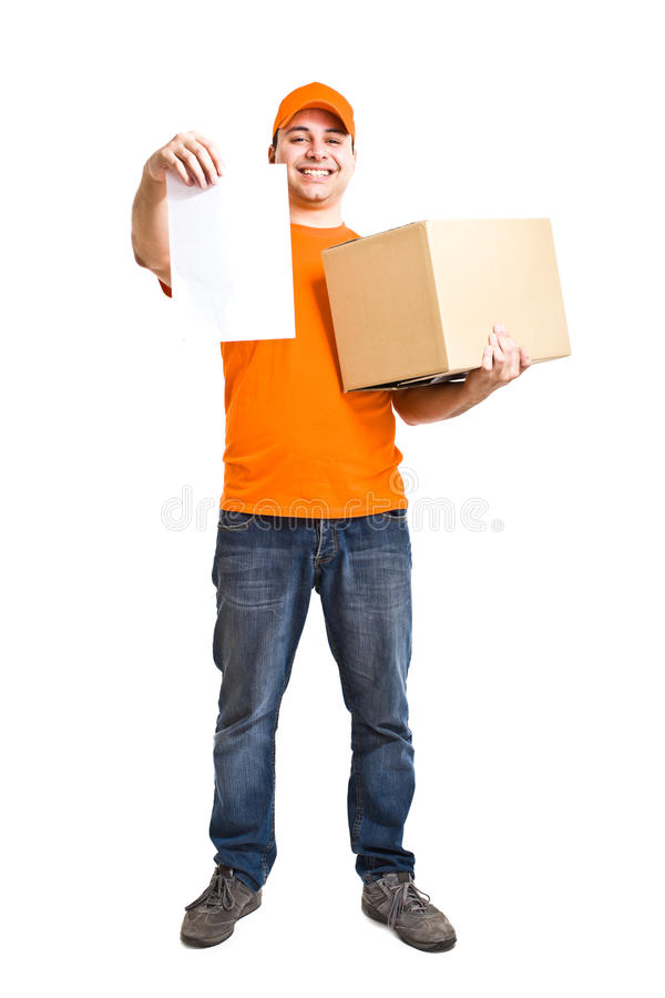Download Delivery boy stock photo. Image of package, order, special - 24734256