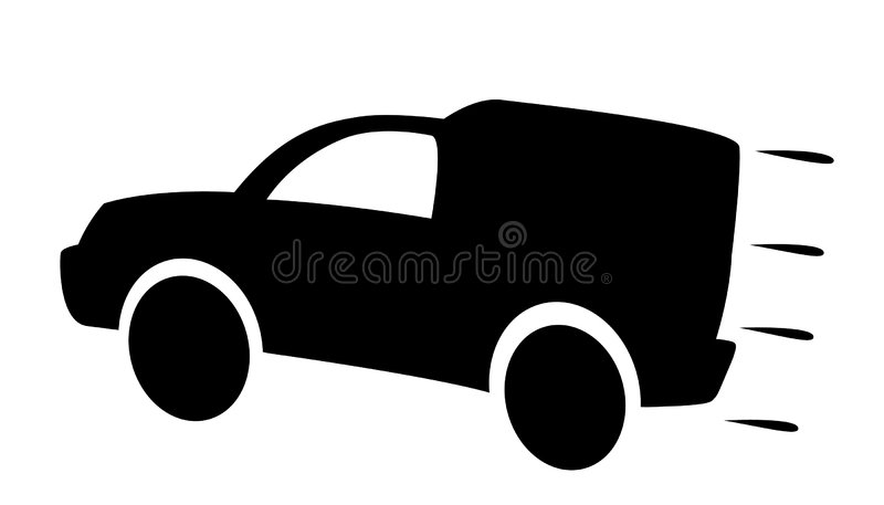 Download Delivery car stock vector. Illustration of house, envelope - 8557281