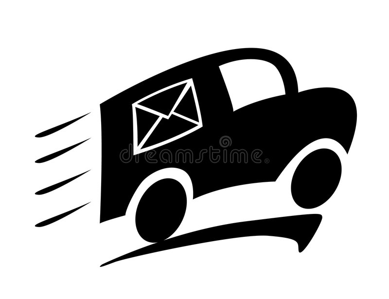 Download Delivery car stock vector. Illustration of mail, media - 8557290