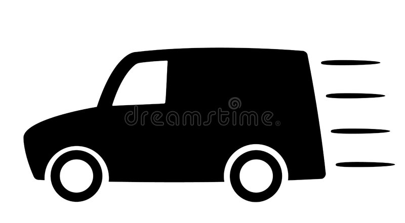 Download Delivery car stock vector. Image of business, post, glossy - 8646834