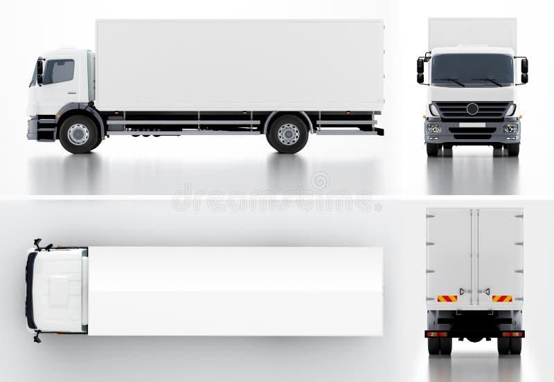 Delivery cargo truck stock illustration illustration of for El mural trailer