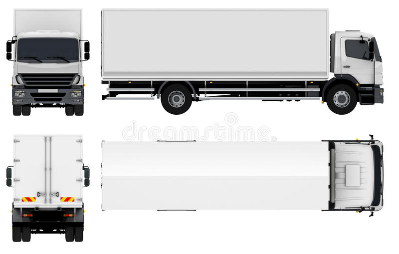 Delivery / Cargo Truck royalty free illustration