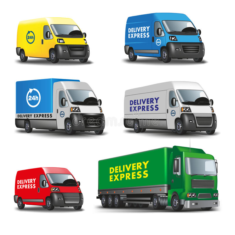 Delivery cars stock illustration