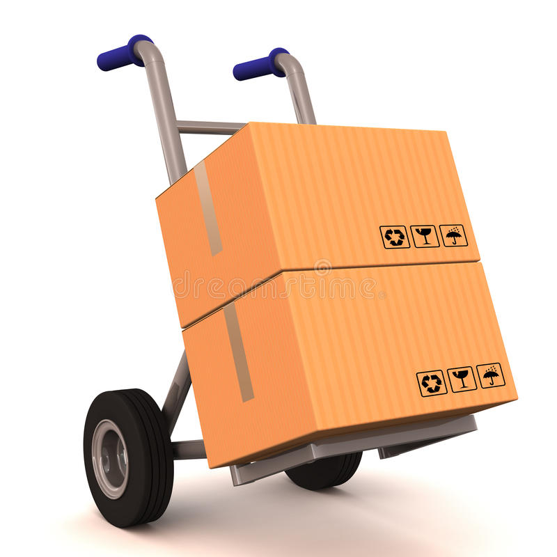 Download Delivery cart stock illustration. Illustration of carrying - 28582976
