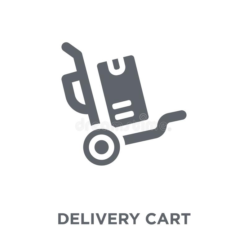 Delivery cart icon from Delivery and logistic collection. Delivery cart icon. Delivery cart design concept from Delivery and logistic collection. Simple element vector illustration