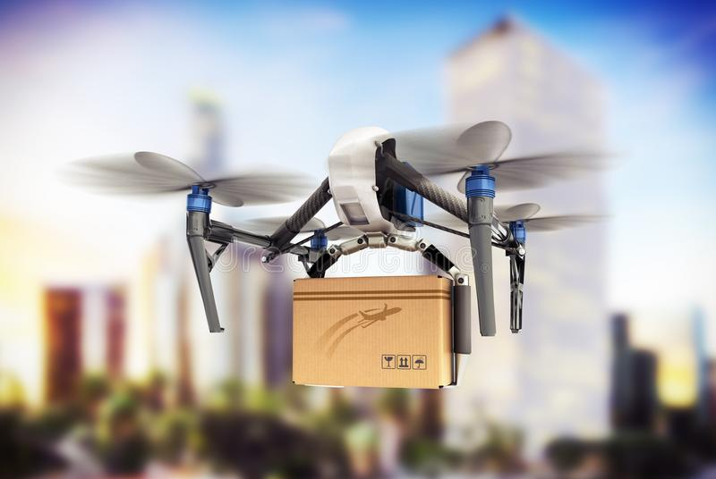 delivery conceptGeneric Design Remote Control Air Drone Flying C royalty free illustration