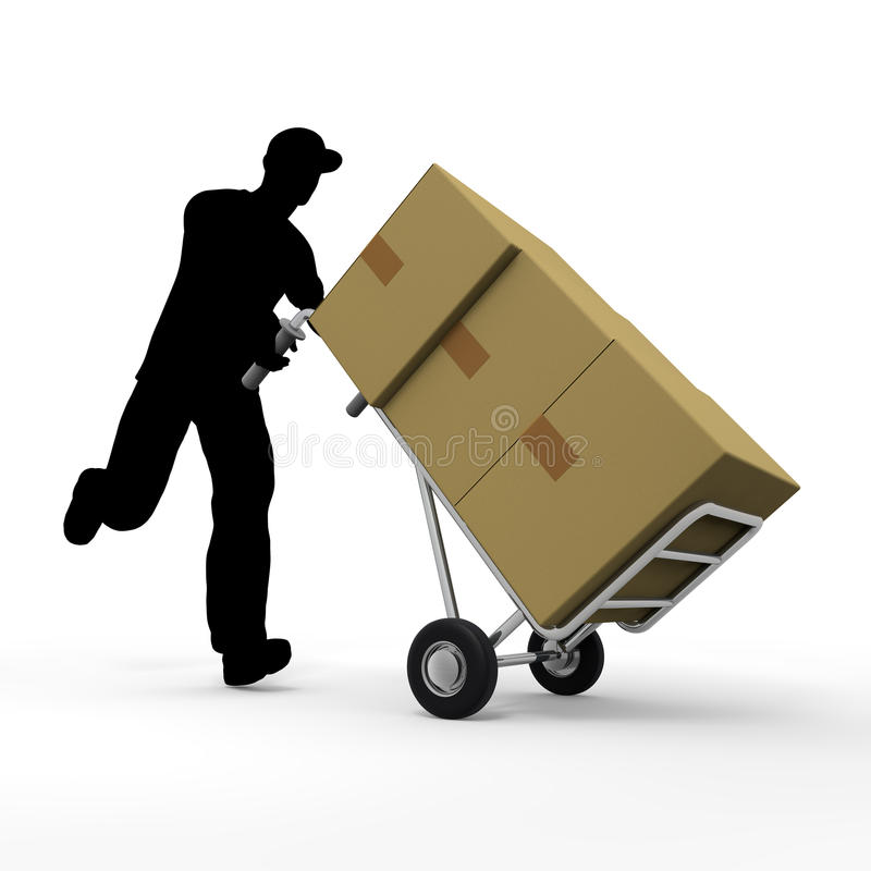 Delivery. Courier service to deliver the luggage. Prompt delivery. I deliver in the car. A lot of luggage. Delivery to men royalty free illustration