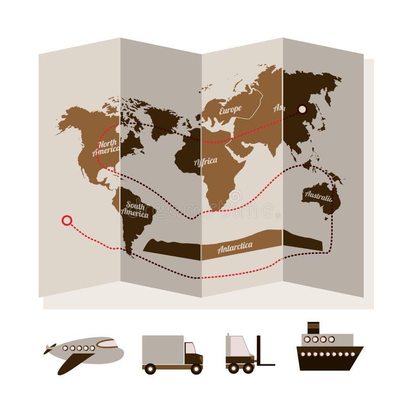 Delivery design royalty free illustration