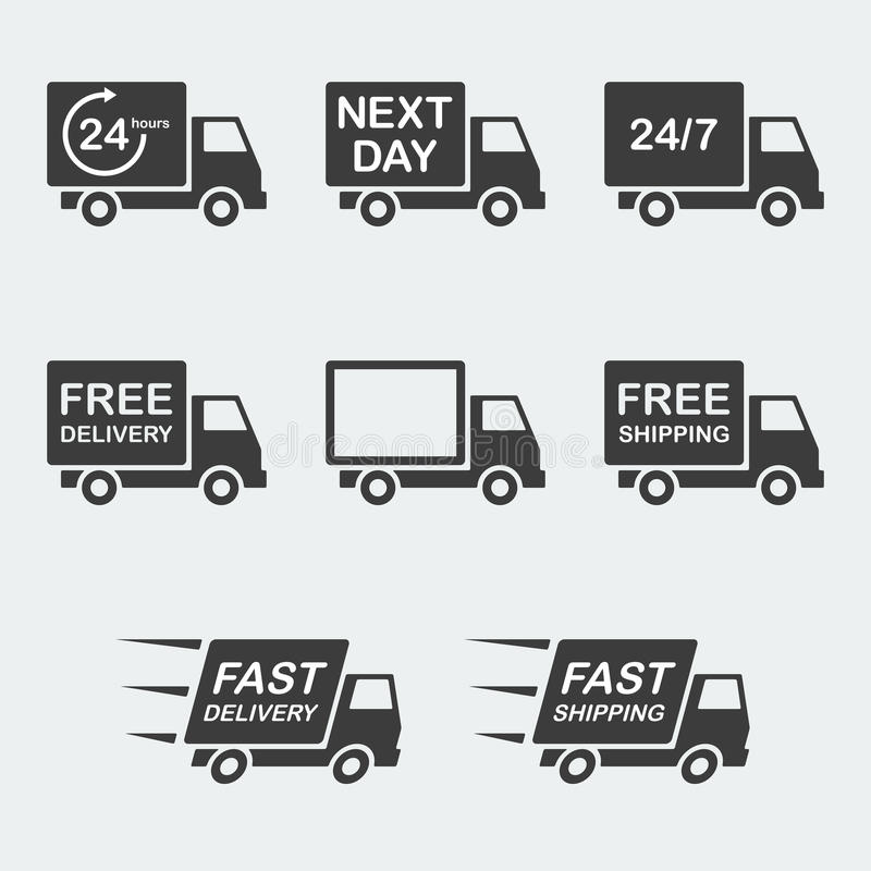 Delivery icon set vector illustration