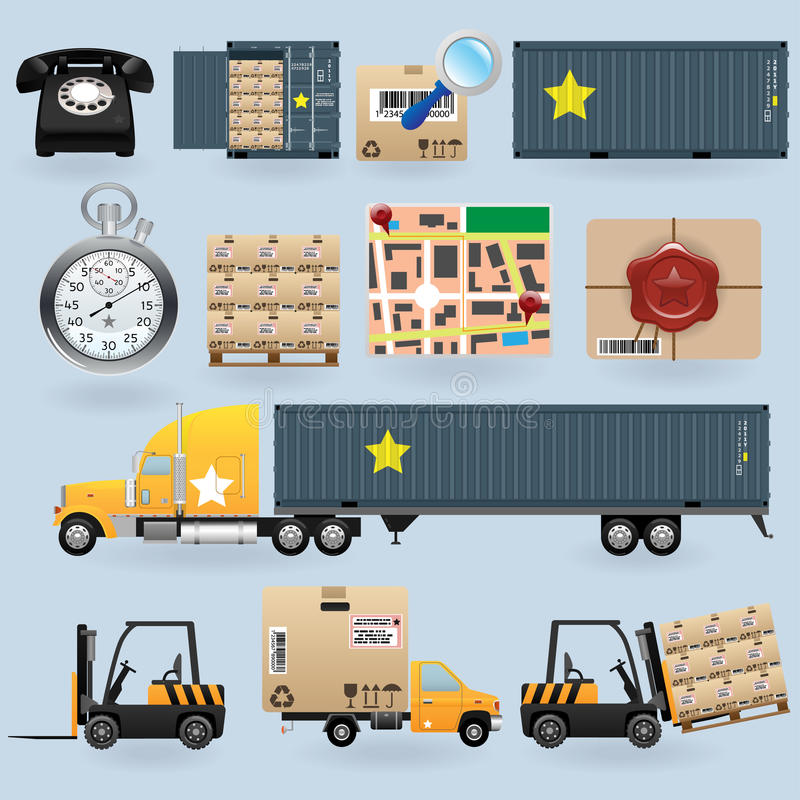 Delivery icons set royalty free illustration