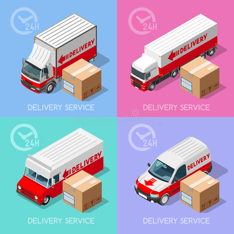 Delivery 07 Infographic Isometric stock illustration
