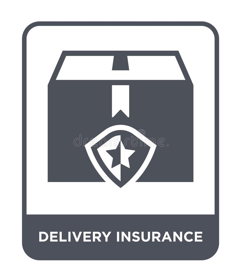 delivery insurance icon in trendy design style. delivery insurance icon isolated on white background. delivery insurance vector vector illustration