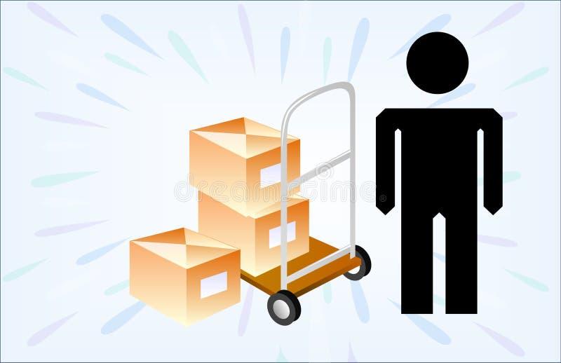 Download Delivery man stock illustration. Image of laborer, occupation - 12080512