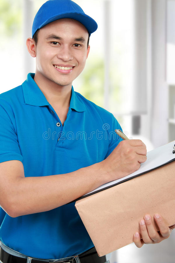 Delivery man stock image