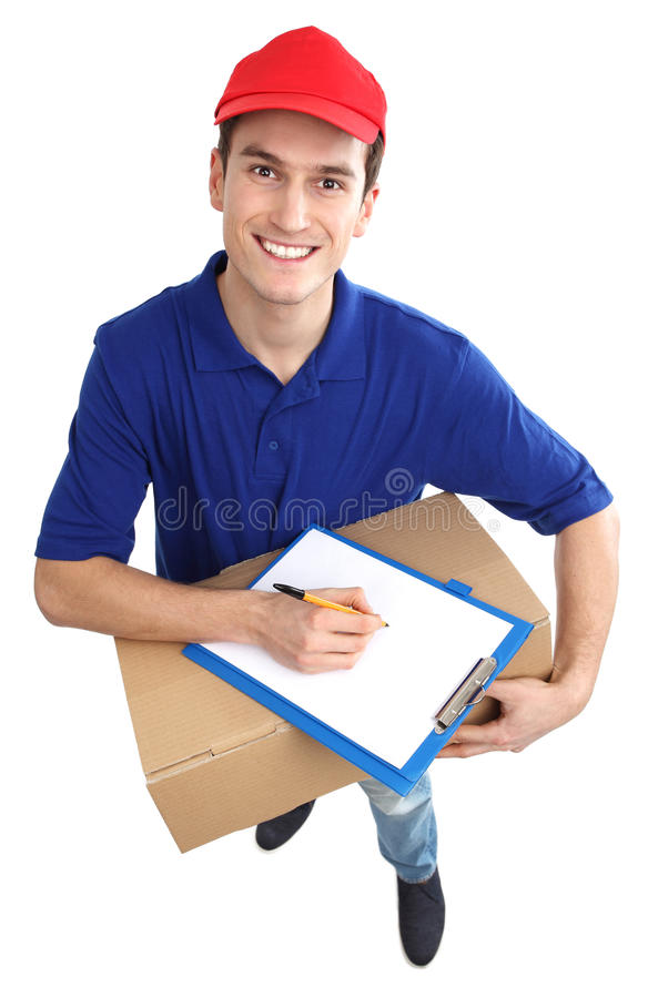 Download Delivery man stock photo. Image of enjoying, adult, full - 29049876