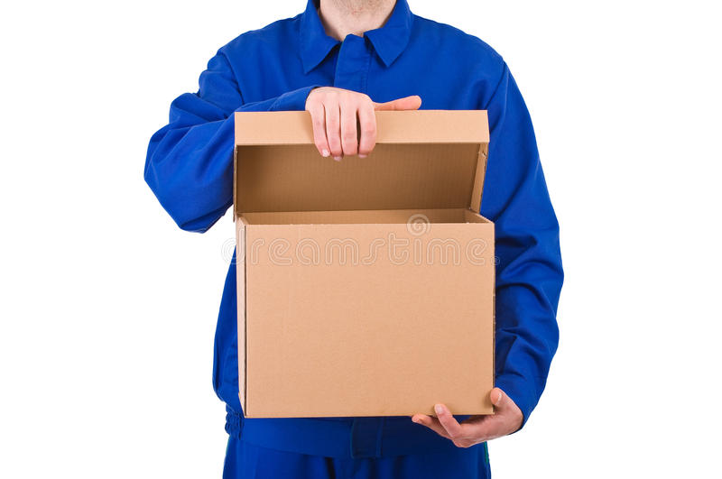 Delivery man. Image of a delivery man royalty free stock photos