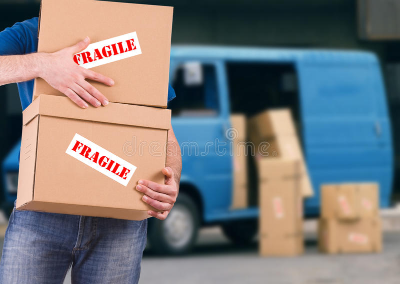 Delivery man. Image of a delivery man stock image