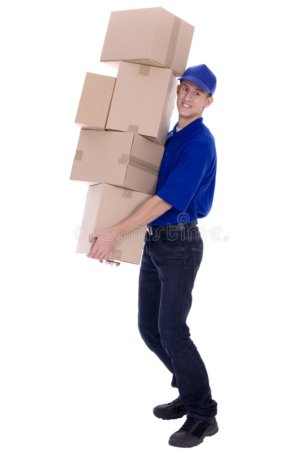 Download Delivery man stock image. Image of cargo, package, blue - 6699719