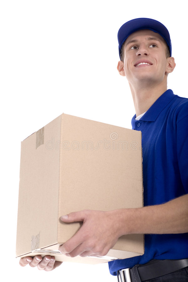 Download Delivery man stock illustration. Image of happy, security - 6710177