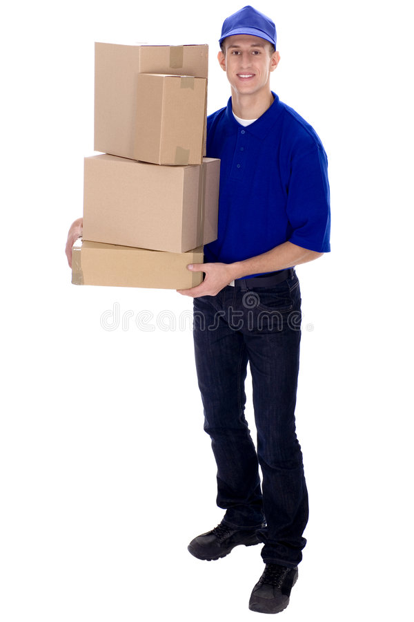 Download Delivery man stock photo. Image of laborer, male, happiness - 6808316