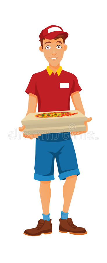 A delivery man stock images